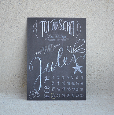 Geboortekaartje Jules