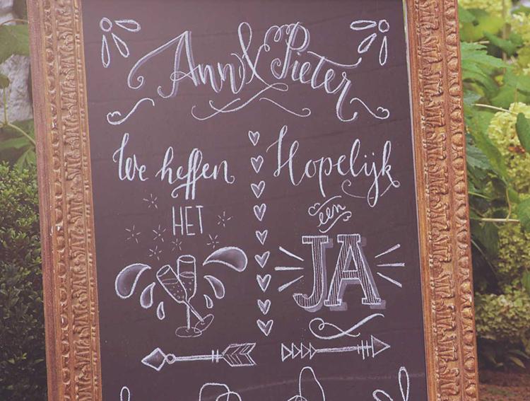 Krijtbord Ann & Pieter