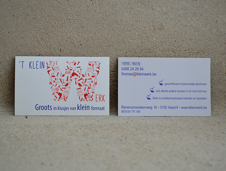 Logo + visitekaartje 't Klein Werk